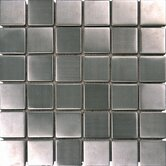 "2"" x 2"" Metal Mosaic Tile in Silver"