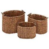 Rattan Baskets (Set of 3)