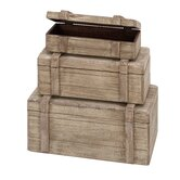 Wood Box Décor (Set of 3)