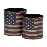 Woodland Imports Residential Trash Cans