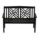 Fretwork Wood Garden Bench