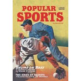 Popular Sports Bruins on Base Vintage Advertisement on Wrapped Canvas