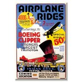 Airplane Rides Inman Bros. Flying Circus Vintage Advertisement on Wrapped Canvas
