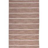 Coastal Living(R) Dhurries Brown Stripe Rug