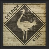 Ostrich Xing Framed Graphic Art