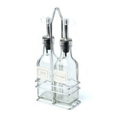 6 Oz Oil and Vinegar Bottle with Caddy