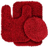 Jazz Shaggy 3 Piece Bath Rug