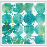 Raindots Framed Painting Print