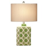 """Geometric 25.5"""" Table Lamp with Oval Shade (Set of 2)"""