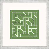 Green Geometrics ll Framed Graphic Art