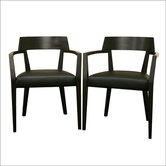 Baxton Studio Laine Arm Chair (Set of 2)