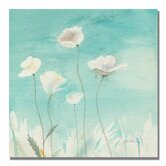 """""""White Poppies"""" by Sheila Golden Painting Print on Canvas"""