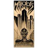 "Metropolis by Schuluz Nendamm, Traditional Framed Canvas Art - 32"" x 18"""