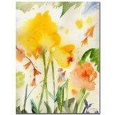 """Garden Yellows Golden, Sheila, Canvas Art  - 32"""" x 24"""""""