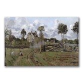 """Pontoise Landscape"" by Camille Pissarro Painting Print on Canvas"