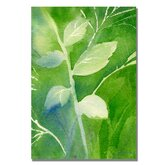 'Greenery' by Sheila Golden Painting Print on Canvas