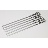 Signature Stainless Steel Skewers (Set of 6)