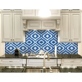 """Urban Essentials Groovy 3/4"""" x 3/4"""" Glass Glossy Mosaic in Lakefront Blue"""