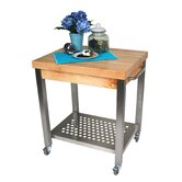 Cucina Americana Kitchen Cart with Wood Top