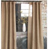 Rustique Burlap Rod Pocket Single Curtain Panel