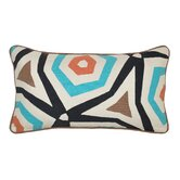 Abasi Applique Cotton Throw Pillow