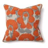 African Mod Jaguar Print Linen Throw Pillow