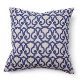 Full Bloom Brit Print Linen Throw Pillow
