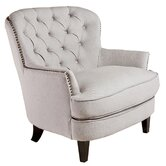 Jerome Tufted Upholstered Linen Lounge Chair