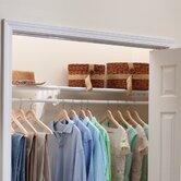 "11.75"" Deep Expandable Closet Rod and Shelf with No End Bracket"