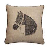 "Thoroughbred Horse 18"" x 18"" Pillow"