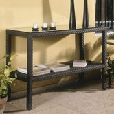 Hospitality Rattan Sofa & Console Tables