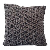 Diamond Pleat Velvet Square Pillow
