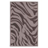 Goa Flint Gray Zebra Printed Area Rug
