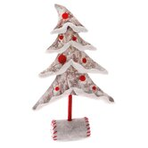 Red Felt and Paper Birch Tree Holiday Accent