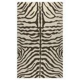 Resort Brown Zebra Outdoor Rug