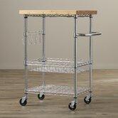 EcoStorage Kitchen Cart with Wood Top