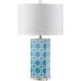 """Quatrefoil 27"""" H Table Lamp with Drum Shade"""