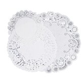 """Paper Doilies, Assorted Sizes 4""""/6""""/8"""", 30 per Pack, White"""