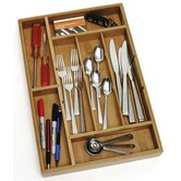 Bamboo Organizer with 2 Removable Dividers