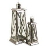Regatta Steel and Glass Lantern (Set of 2)