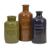 3 Piece Vintage Ceramic Bottle Sculpture