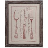 Vintage Culinary Framed Graphic Art