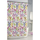 Bambini Shower Curtain Cotton Butterfly Shower Curtain