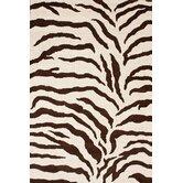 Safari Zebra Brown Rug