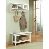 Shaker Cottage Bench Table and Coat Hooks