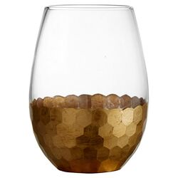 Daphne Gold 20 Oz. Stemless Wine Glass