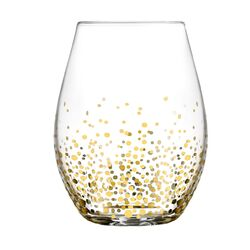 20 Oz. Gold Luster Stemless Wine Glass