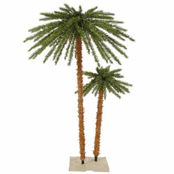Pre Lit Tropical Palm Artificial Christmas Tree