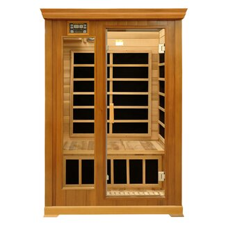 Crystal Sauna Luxury Series 2 Person Luxury Carbon FAR Infrared Sauna ...