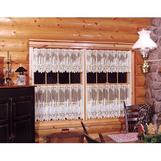 Pinecone Curtain Valance & Tiers from Wayfair!